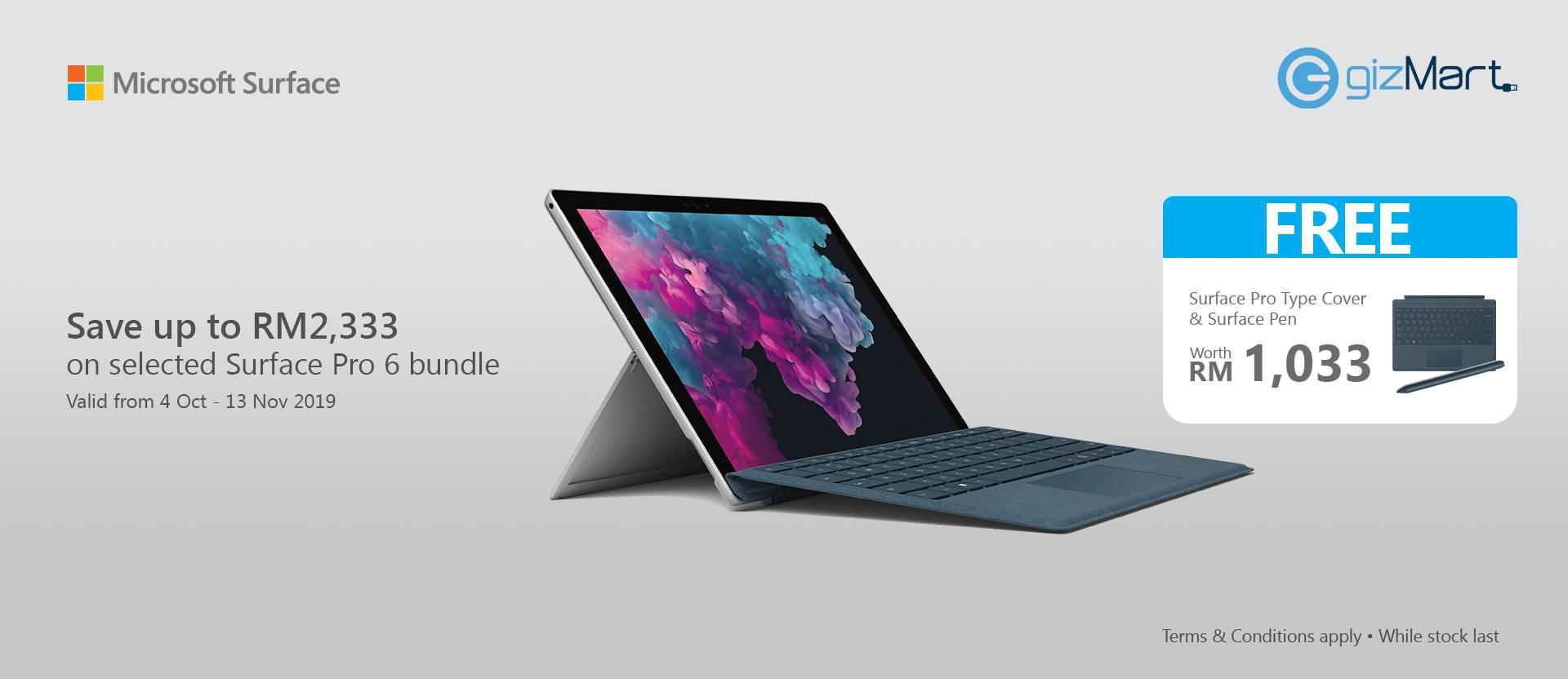Surface Pro 6 4 Oct - 13 Nov