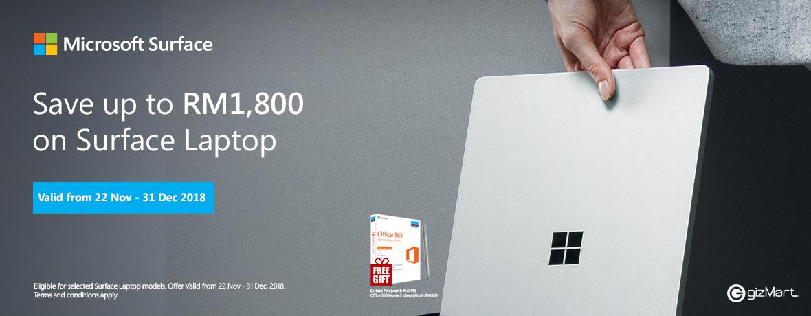 Surface Laptop 22 Nov - 31 Dec