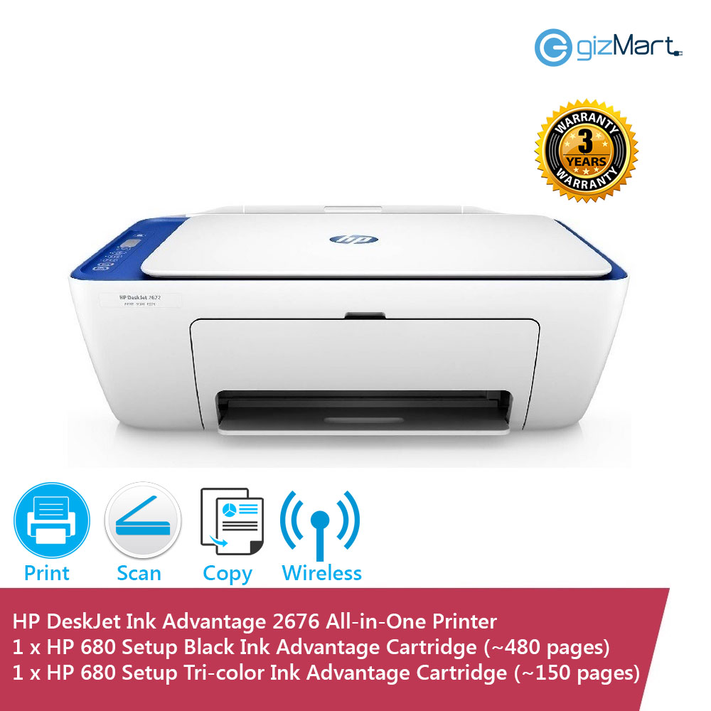 HP DeskJet Ink Advantage 2676 All-in-One Printer | gizMart.my | Gadgets &  ICT Products
